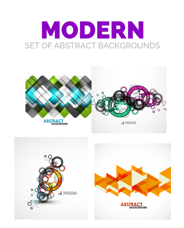 bleed: Set of futuristic modern abstract template Illustration