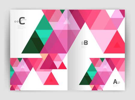 Print triangle modern print template