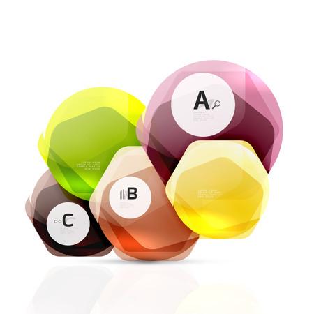 Glass modern geometrical hexagon Illustration