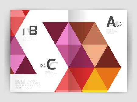 diagonal stripes: Modern triangle print template Illustration