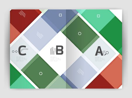 Geometrical brochure a4 business template Illustration