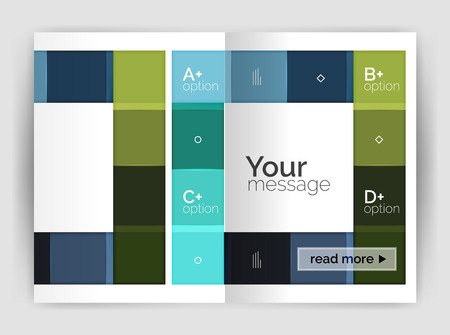 Set of front and back a4 size pages, business annual report design templates Stock Vector - 75954345