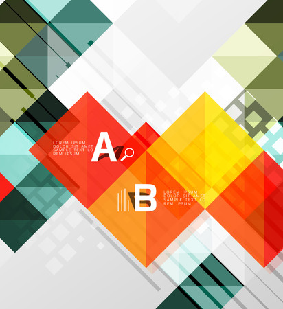 quadrate: Vector square elements on gray abstract background with infographics