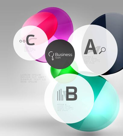 Circle modern business infographics design template Illustration