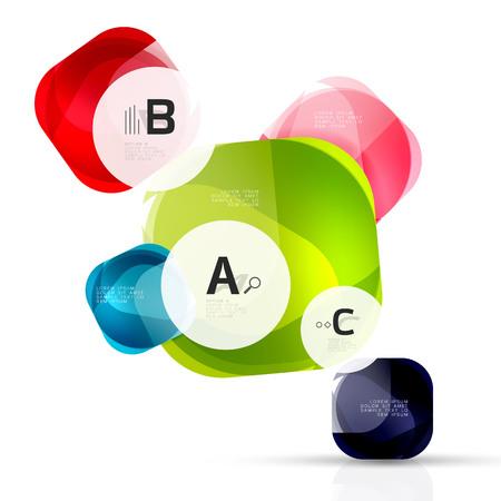 적합: Vector shiny blank web option boxes
