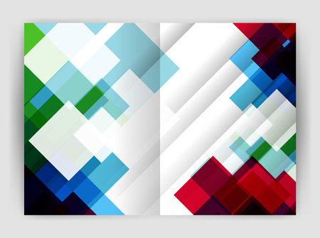 Square design corporate business flyer Illustration