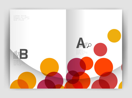Abstract circles, annual report covers. Modern business brochure templates