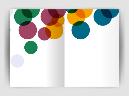 notebook cover: Abstract circles, annual report covers. Modern business brochure templates