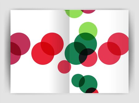 Abstract circles, annual report covers. Modern business brochure templates. Illustration