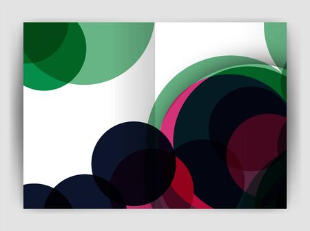 Abstract circles, annual report covers. Modern business brochure templates. Ilustração