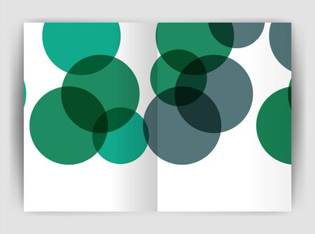 notebook cover: Abstract circles, annual report covers. Modern business brochure templates. Illustration