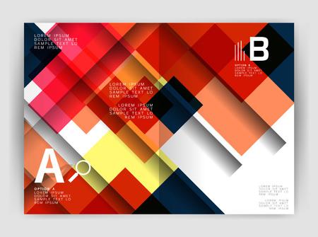 papel filtro: Square design corporate business flyer Vectores