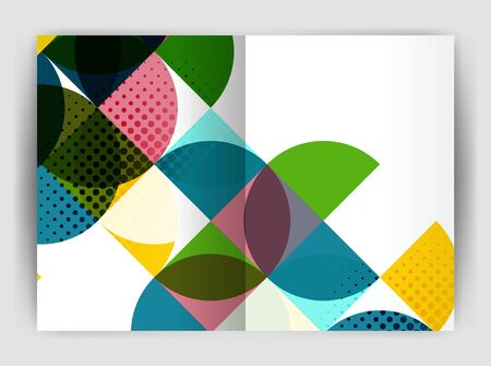 notebook cover: Abstract circle design business annual report print template. Business brochure or flyer abstract background Illustration