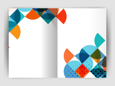 Abstract circle design business annual report print template. Business brochure or flyer abstract background Illustration