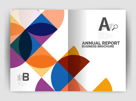 Abstract circle design business annual report print template. Business brochure or flyer abstract background Ilustração