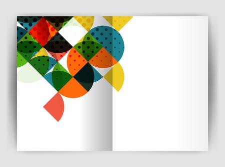 Abstrakte Kreis Design Business Jahresbericht Druckvorlage Vektorgrafik