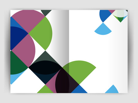 notebook cover: Abstract circle design business annual report print template