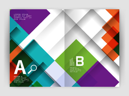 Square design corporate business flyer or annual report cover template. Vector business abstract background