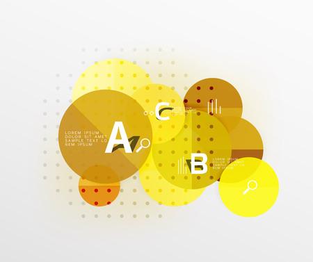 mapa de procesos: Diagrama circular infográfico del círculo moderno redondo