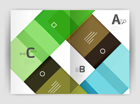 Set of front and back a4 size pages, business annual report design templates. Illustration