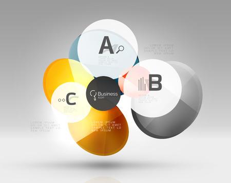 Glas cirkels banner Stock Illustratie
