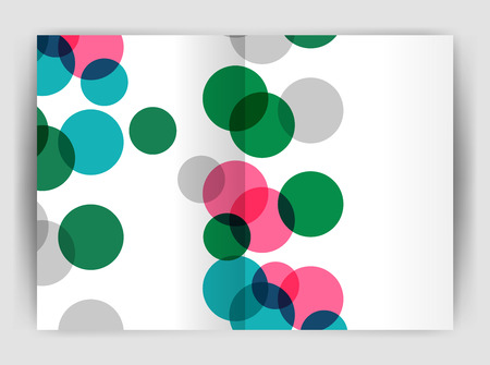 notebook: Abstract circles, annual report covers, modern business brochure templates.