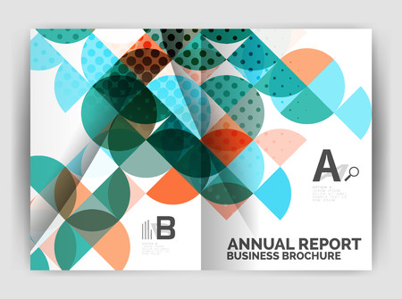 notebook: Abstract circle design business annual report print template