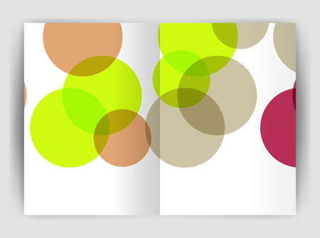 notebook: Abstract circles, annual report cover. Modern business brochure template. Business flyer abstract background
