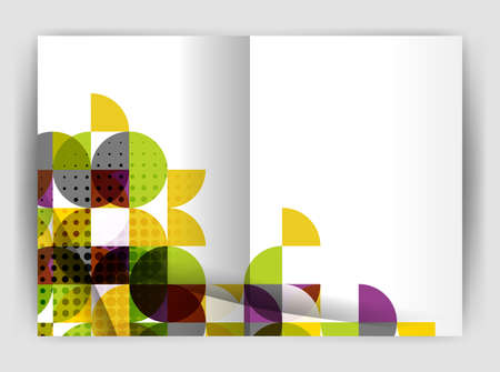 notebook: Abstract circle design business annual report print template. Business brochure or flyer abstract background Illustration
