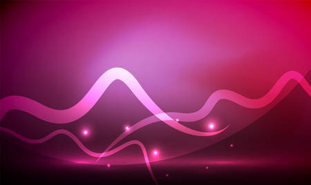 igniting: Glowing magic wave line with light effects in darkness