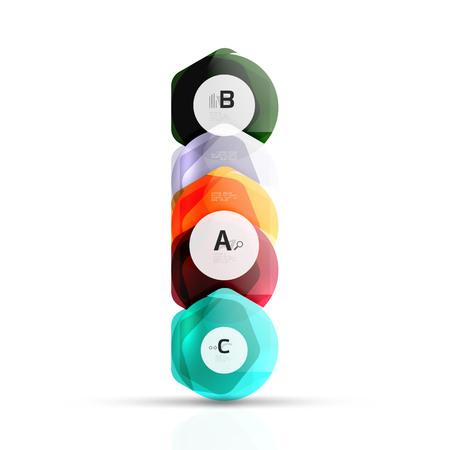 Geometrical hexagon aqua elements
