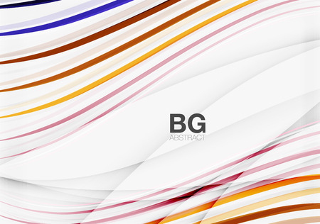 white wave: Wave lines abstract background. Vector template background for workflow layout, diagram, number options or web design