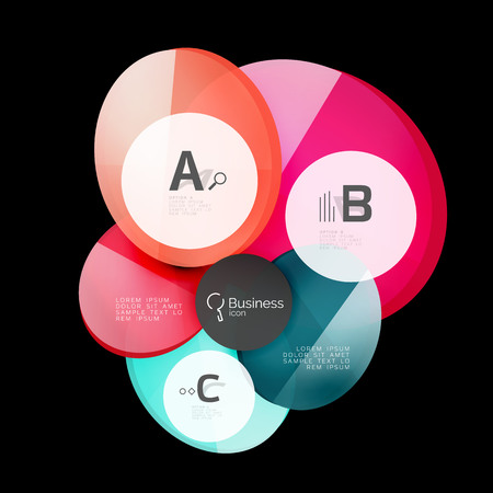 Geometrical abstract infographics banner template, vector illustration  イラスト・ベクター素材