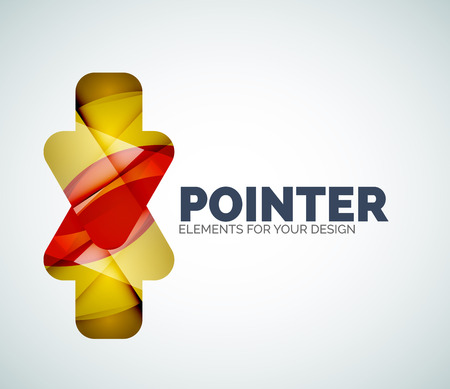 right choice: Vector icon, arrow mouse pointer or directional symbol. Geometric abstract design