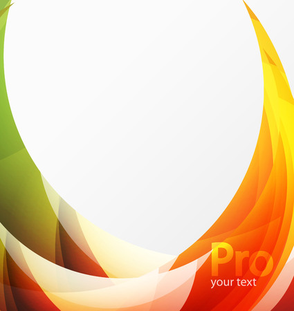 Futuristic hi-tech glass wave abstract background. Color curvy line with glossy effect. Vector illustration