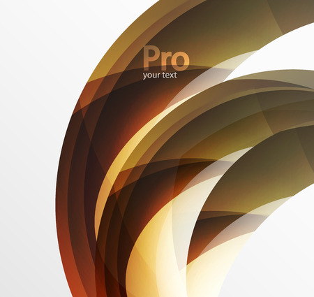 sinergia: Futuristic hi-tech glass wave abstract background. Color curvy line with glossy effect
