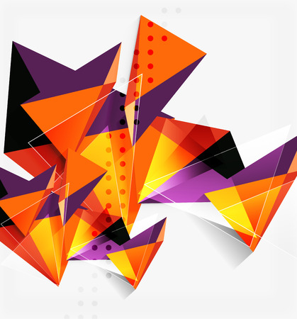 3d triangles and pyramids, abstract geometric vector background