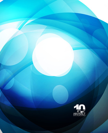 Glossy glass shiny bubble abstract background, wave lines. Vector illustration