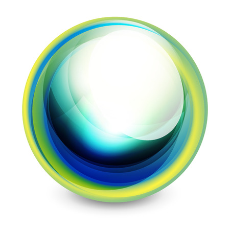 Glass sphere, futuristic abstract element