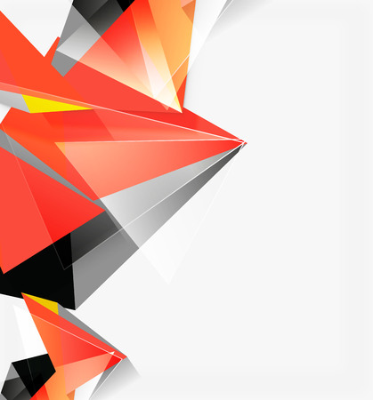 3d triangles and pyramids, abstract geometric vector Illustration