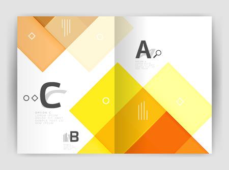 page layout: Colorful modern stripes business flyer. Vector design for print workflow layout, diagram, number options or web design Illustration