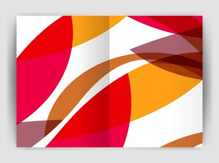 page layout: Wave design business brochure or annual report cover. Abstract background.