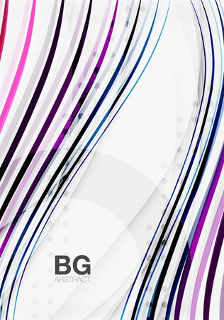 futurist: Wave lines abstract background Illustration
