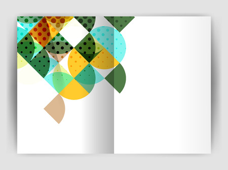 semicircle: Abstract circle design business annual report print template. Business brochure or flyer abstract background Illustration