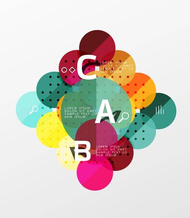 perspectiva lineal: Circle geometric abstract background. Vector template background for workflow layout, diagram, number options or web design