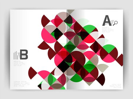Abstract circle design business annual report print template