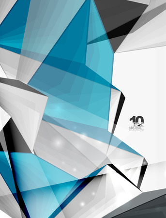 ambience: Low poly geometric 3d shape futuristic modern background. Vector blank template for your text or design