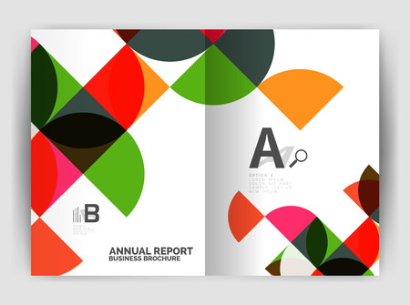 semicircle: Abstract circle design business annual report print template