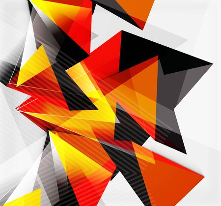 vertex: 3d triangles and pyramids, abstract geometric vector background
