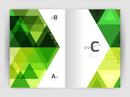 stock certificate: Vector triangle print template